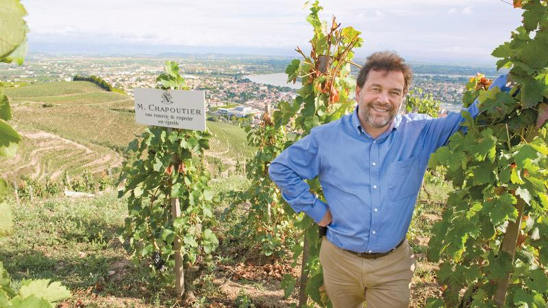 Michel Chapoutier is best known for his Hermitage wines, but he's looking south toward Provence.