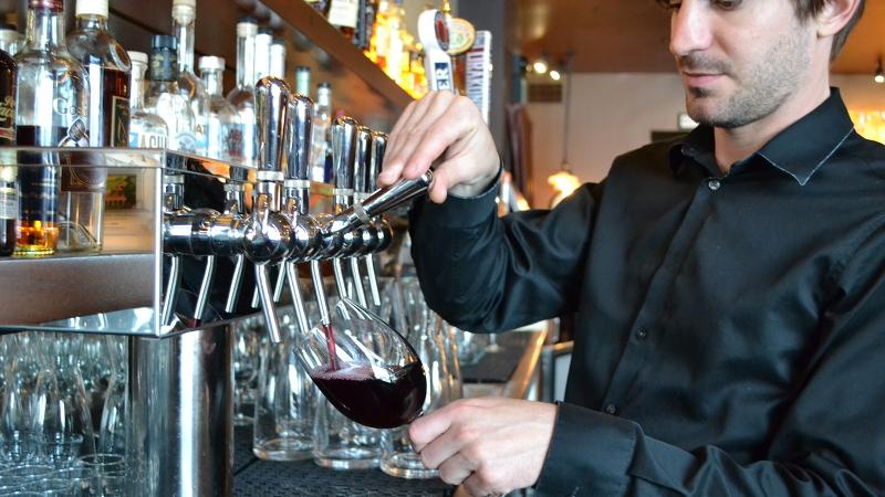 Wine-on-tap allows restaurants to pour wine by the glass without fear of spoilage.