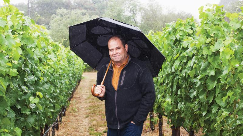 Patz & Hall winemaker and co-founder James Hall stands in a Sonoma vineyard, one of many top parcels he buys fruit from.