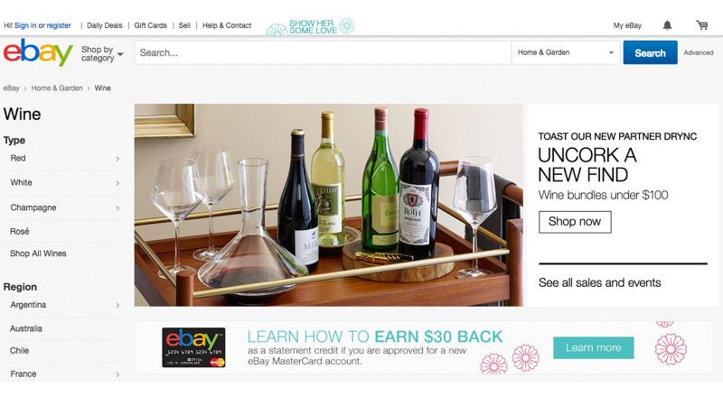 Buy It Now: EBay Decides It's Time to Sell Wine
