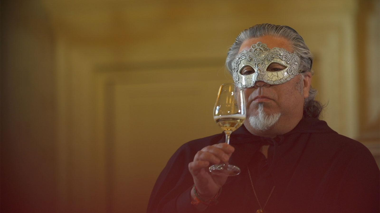 Charlie Arturaola must resort to a Zorro-like disguise to enter the Duel of Wine.