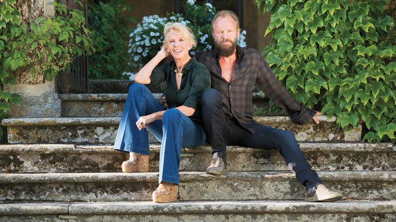 Il Palagio's Sting and Trudie Styler blend Sangiovese, Syrah and Merlot into Message in a Bottle.