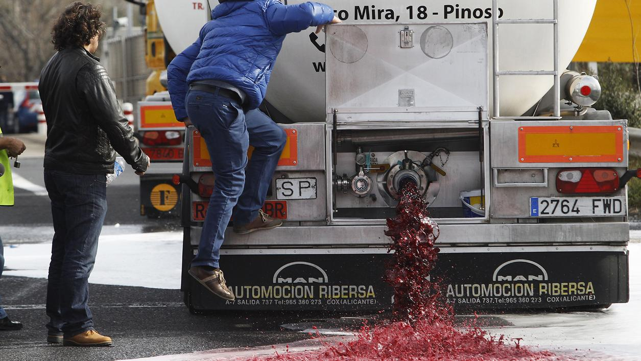 Mad-As-Hell French Winemakers Take (Spanish Wine) to the Streets