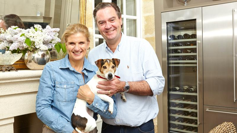 Margaret Rens and her husband, Ronald, avid wine collectors, run a B-and-B out of their Entre-Deux-Mers château.