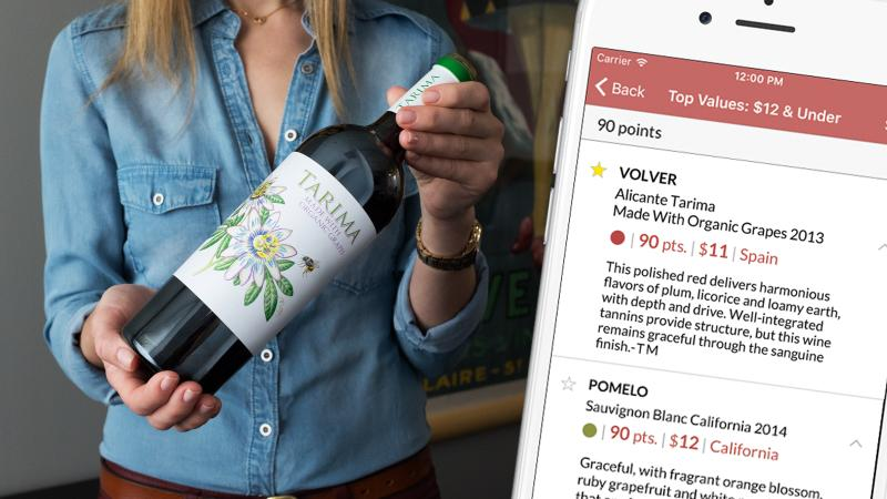 Xvalues includes a tasting note for each wine, along with the score, suggested retail price and a label image.
