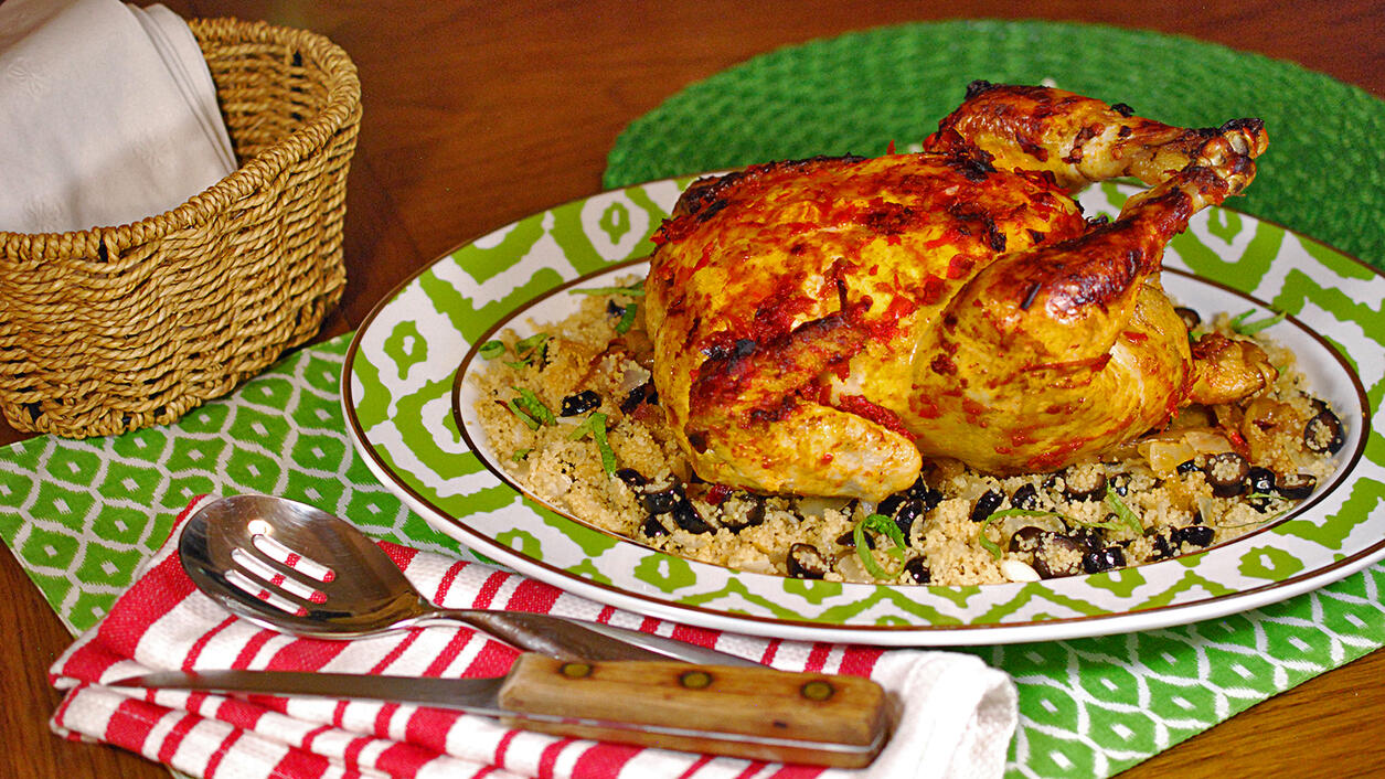 8 & $20: Harissa Chicken with Savory Couscous