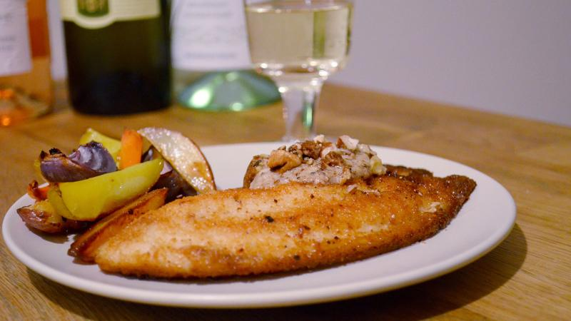 8 & $20: Rainbow Trout with Homemade Nut Butter