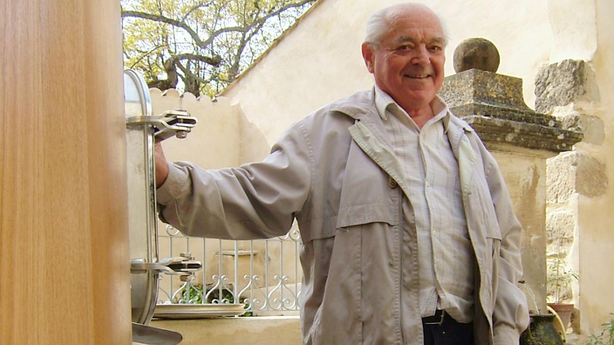 No place else he'd rather be: Henri-Louis Barruol took great pride in the buildings he'd restored at St.-Cosme.