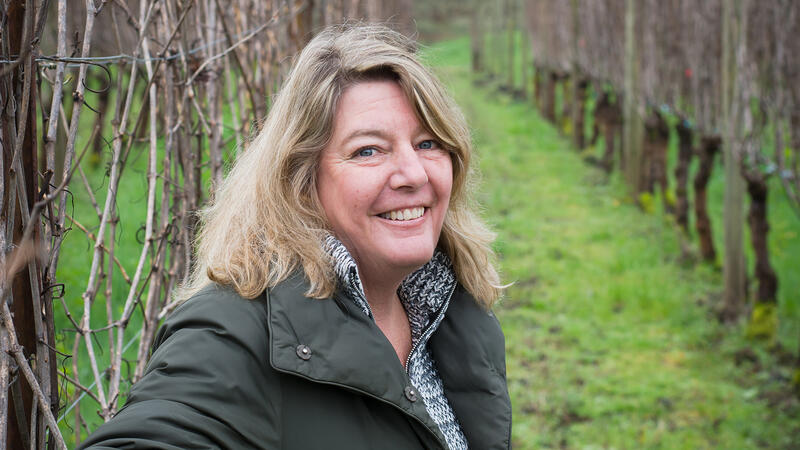 Patricia Green in one of her vineyards in Oregon's Ribbon Ridge appellation.