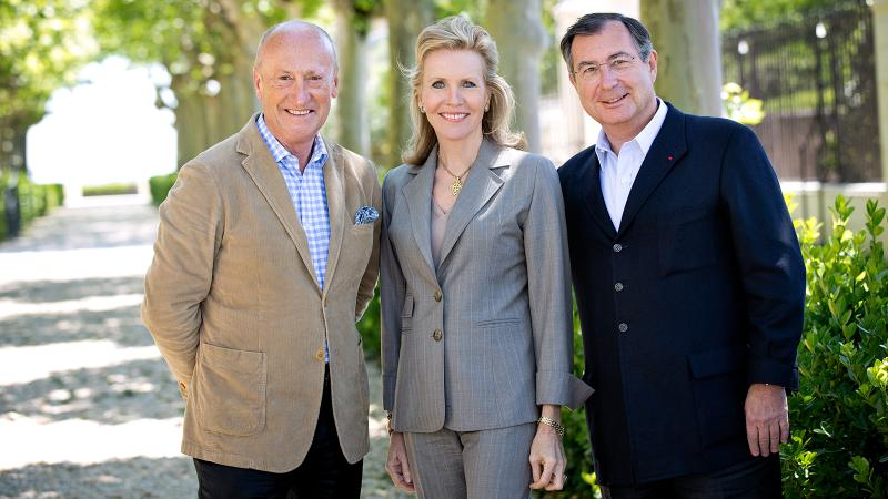 From left: Montrose CEO Hervé Berland, chairwoman Mélissa Bouygues and owner Martin Bouygues