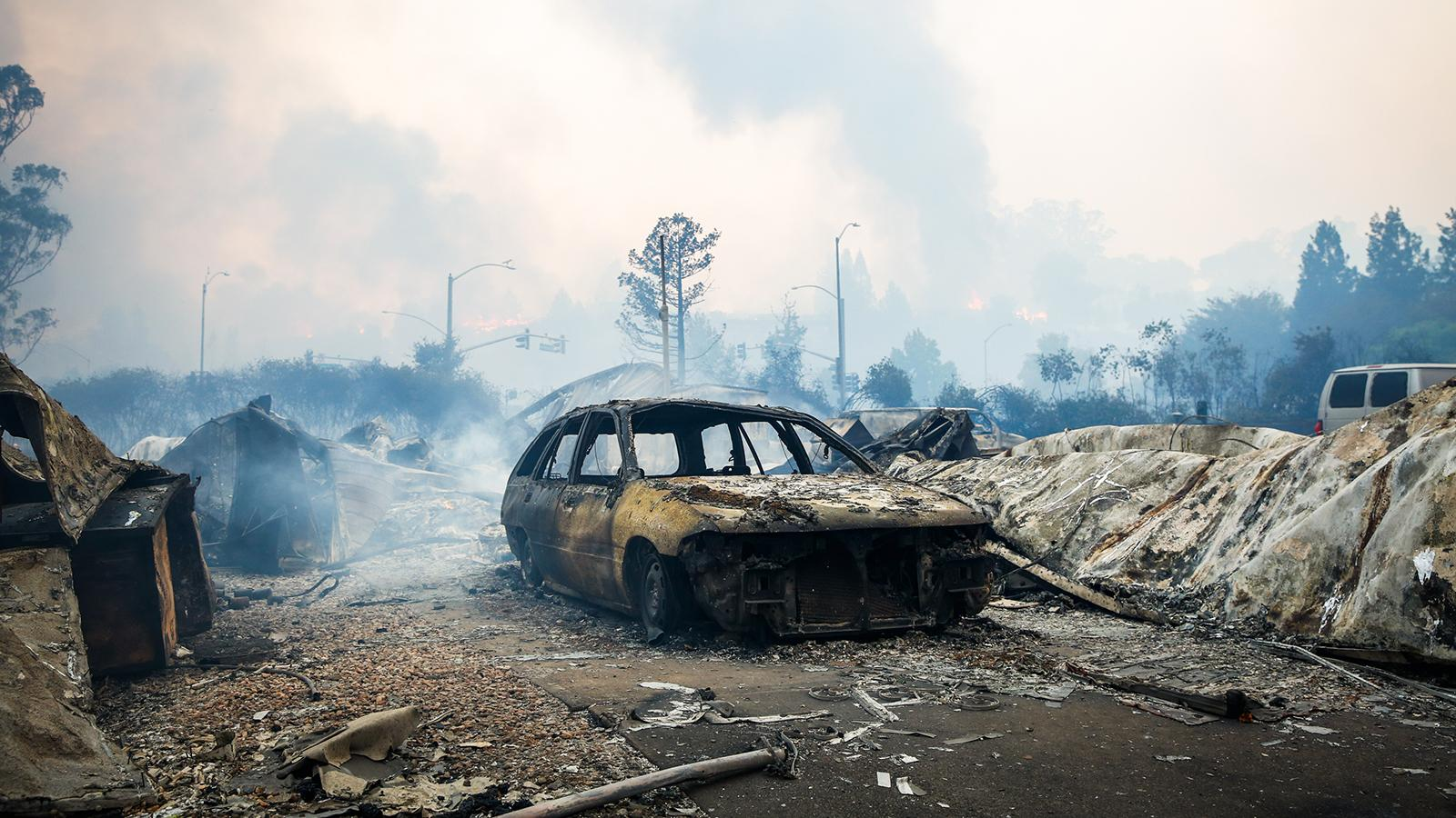 The California wildfires have devastated the Sonoma County town of Santa Rosa.