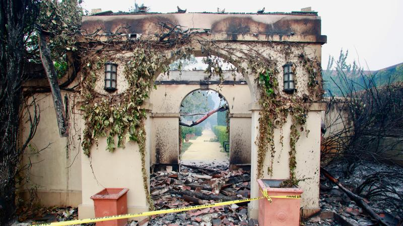 Some structures of Chateau St. Jean were damaged, but the winery survived.