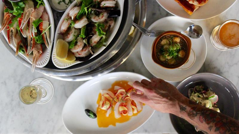 Seafood is a focus on the menu at Mignonette Uptown.