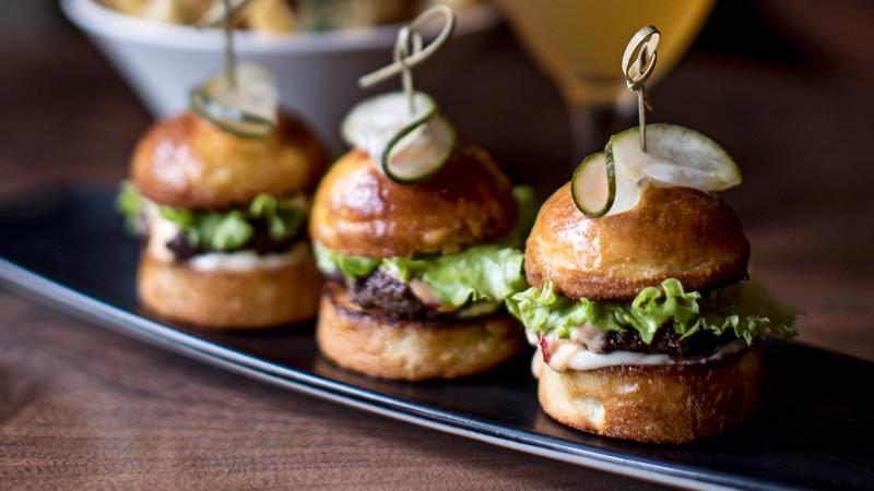 Chef Christopher Grossman's Atlas Sliders give a nod to a Georgia staple with a riff on pimento cheese.