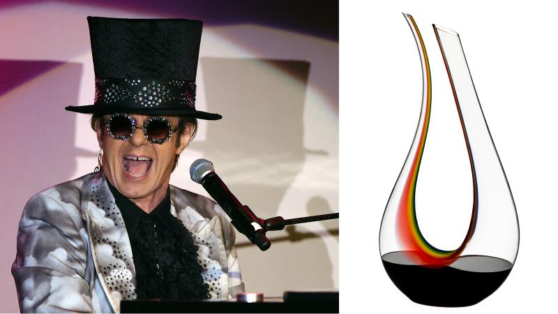 Hold Me Closer, Wine Decanter: A Riedel Rainbow for Elton John