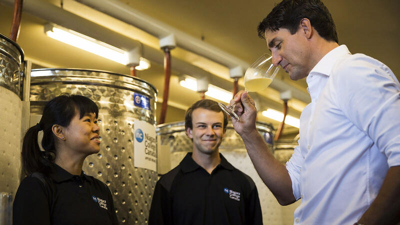 Pictured: Justin Trudeau, not to be confused with Canada's most famous winemaker, Wayne Gretzky.