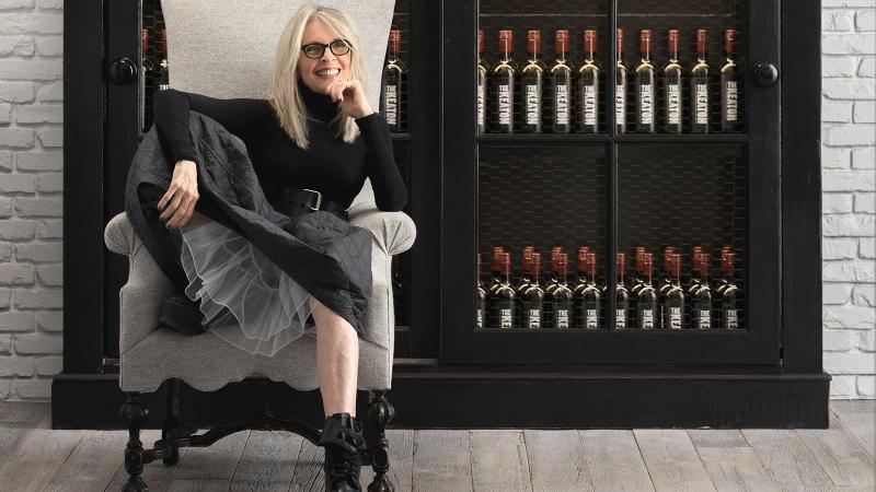 The actress and longtime wine lover stocks her cellar with her own label, The Keaton.