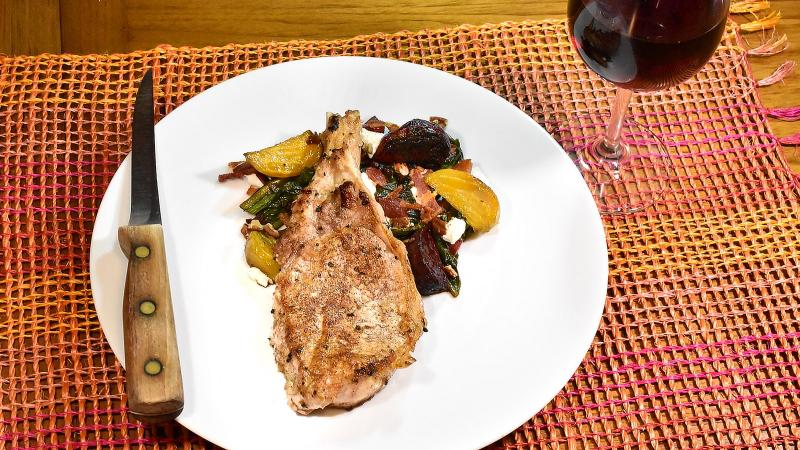 A medium-bodied red wine with bright fruit, spice notes and moderate tannins strikes the right balance with this dish.