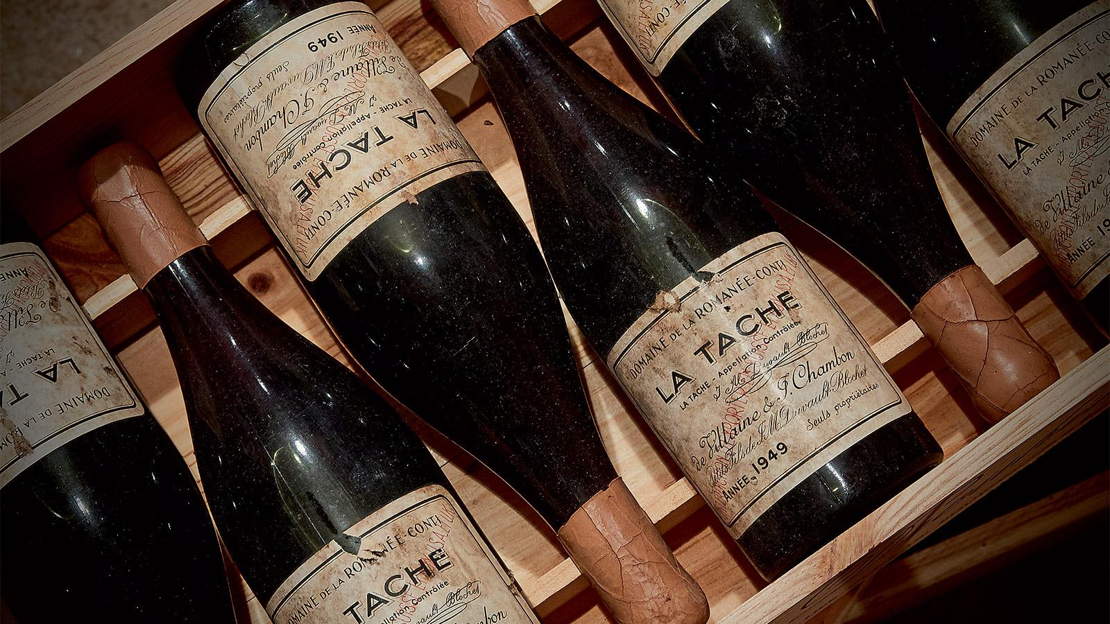 These DRC La Tâche 1949s sat in Robert Drouhin's cellar for more than 60 years.