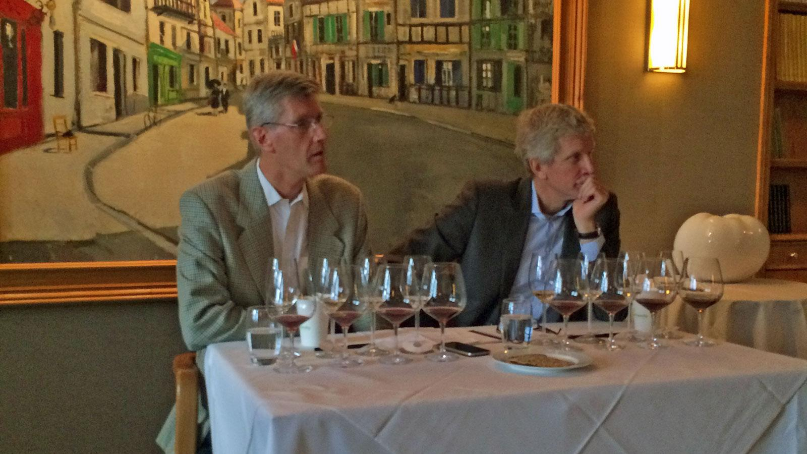 Philippe (left) and Laurent Drouhin hosted a candid conversation about biodynamics.
