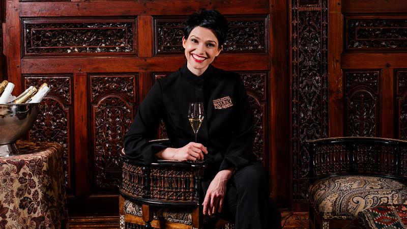 Image for an article: At Restaurant Mosaic, chef Chantel Dartnall has plenty to celebrate, so there's lots of Champagne on the wine list.