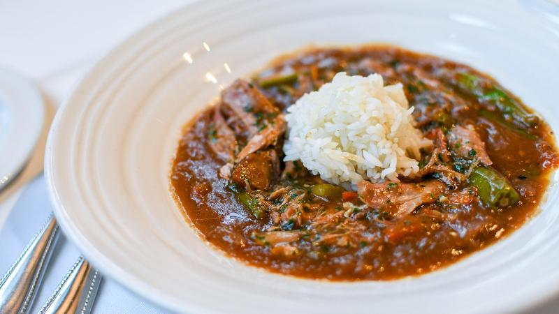 This hearty gumbo, from Magnolias chef Kelly Franz, is a paragon of make-ahead cooking: The flavors continue to deepen for up to five days in the fridge.