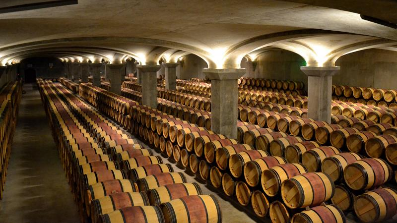 Future releases of Château Margaux rest in barrel.