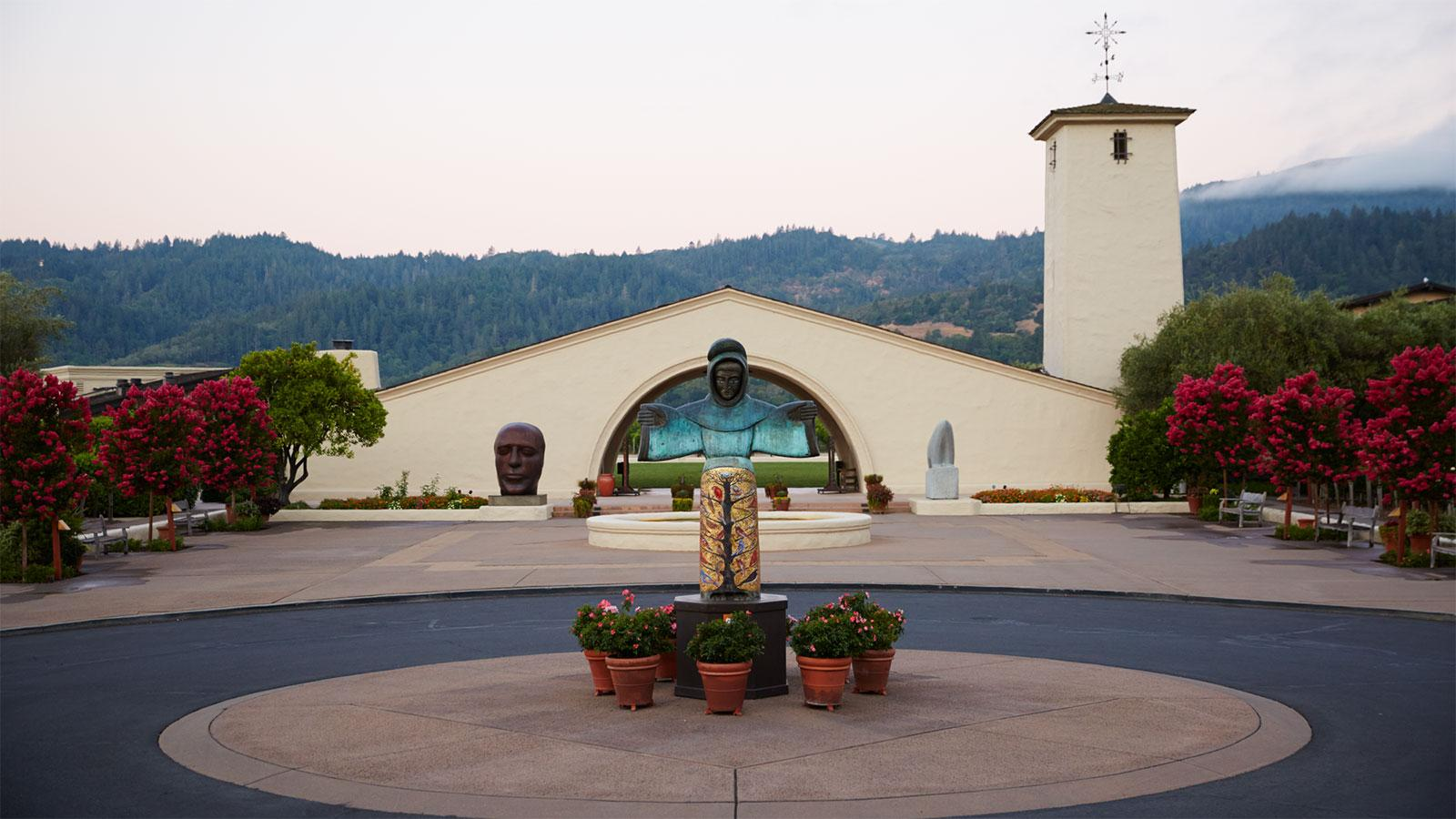 Founded in 1966, Robert Mondavi Winery stands tall in Napa Valley.