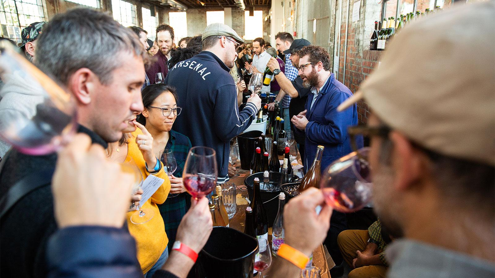 In Brooklyn, the Raw Wine fair attracted winemakers and fans from far and wide.