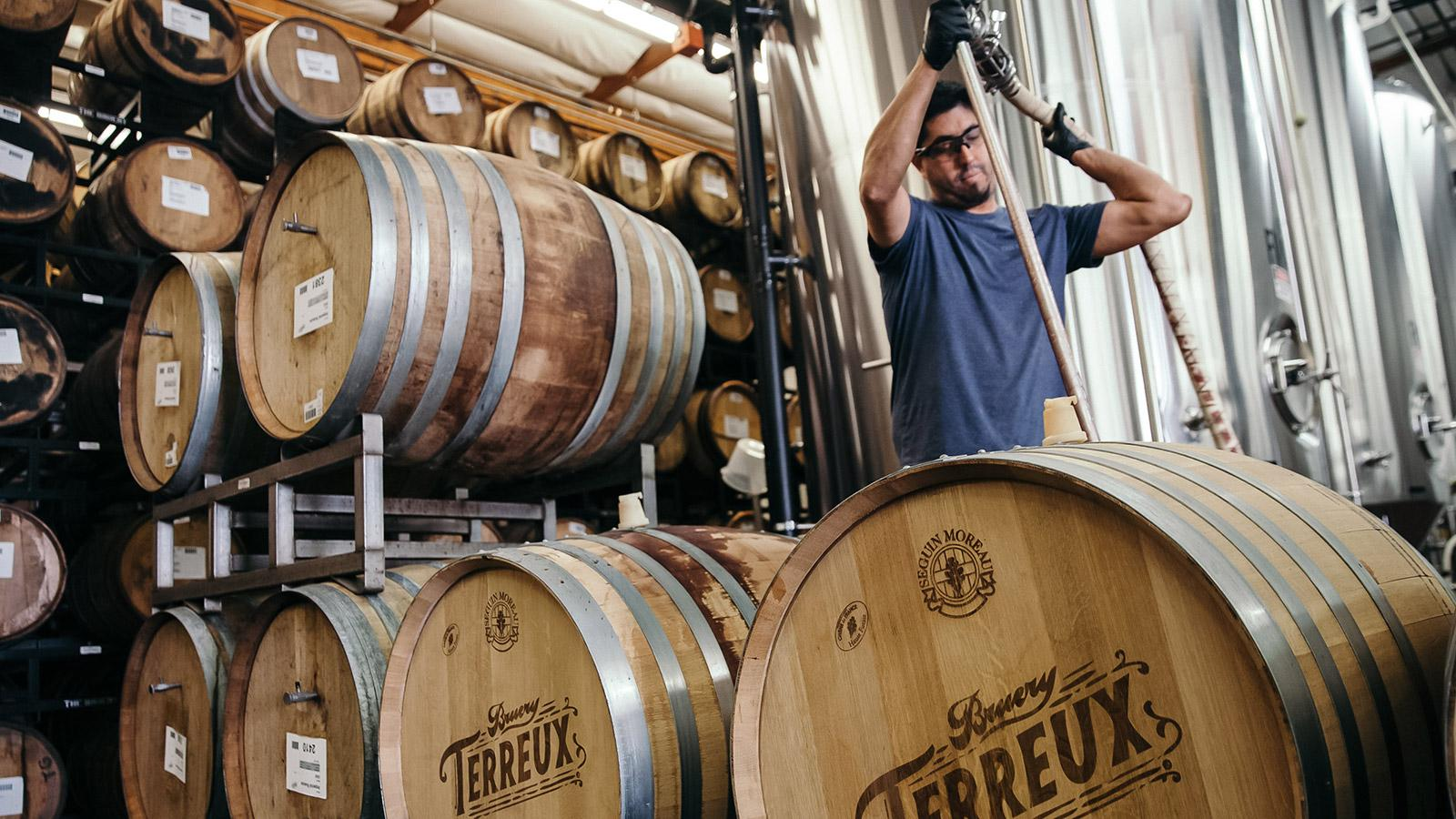The team at Bruery Terreux is intent on having the wine grape's character expressed in their hybrids.