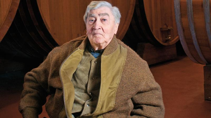 Bruno Giacosa in his wine cellar in the Barbaresco town of Neive.