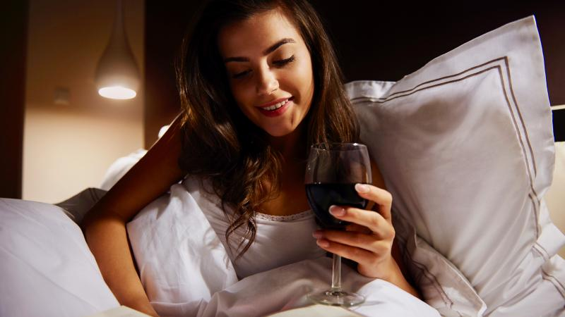 That nightcap seems like a relaxing end of the day, but it might unsettle your night.