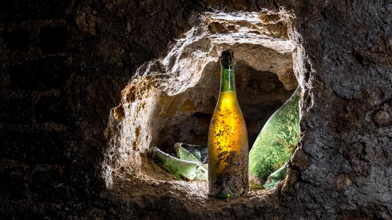 Pol Roger workers unearthed some intact 19th-century bottles from the site of a caved-in cellar in Épernay.