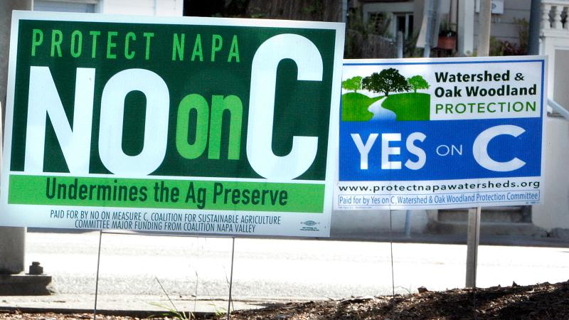 Napa voters were split over whether Measure C was good for the valley or bad.