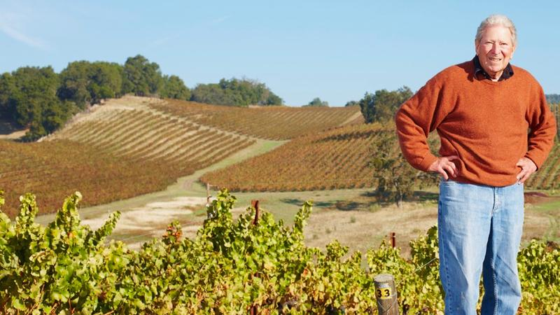 Robert Haas at Tablas Creek Vineyard, the Paso Robles estate he cofounded.