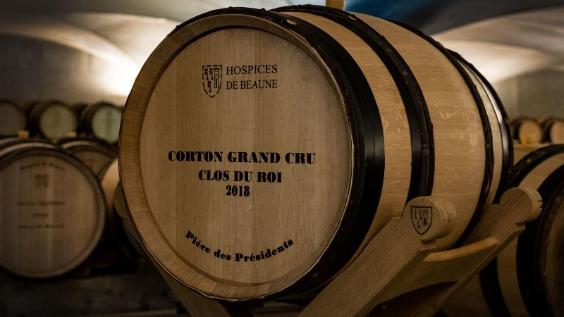 Barrels of grand cru Burgundy brought in impressive prices at this year's auction.