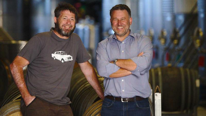 Ben Glover (left) and Rhyan Wardman are planning a small group of artisanal winemakers.