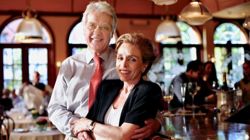 Norbert and Lidia Goldner at Cafe l'Europe, the Palm Beach icon they built.