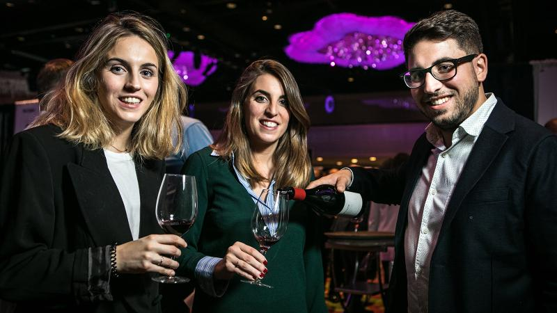 Carlos Lopez de Lacalle, winemaker of Spain's Bodegas y Viñedos Artadi, and his sisters Marian and Patricia shared the Artadi Valdegines 2014 at the Grand Tastings.