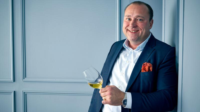 Nik Weis was all smiles before giving away an entire vintage of $1,300-a-half-bottle Riesling.