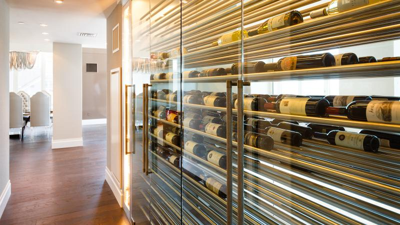 Cellar design firm Joseph & Curtis created this sleek wine cabinet to house up to 500 bottles.