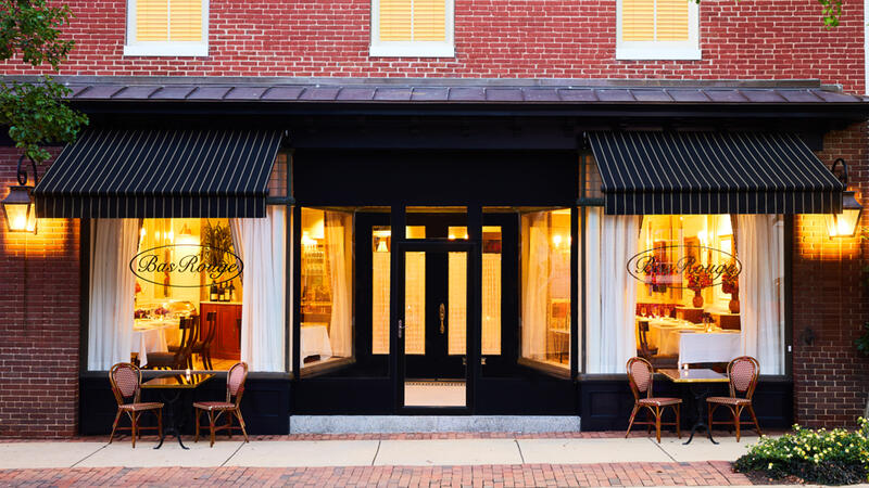 Bas Rouge has an international list of 470 wines to pair with its prix-fixe tasting menu.
