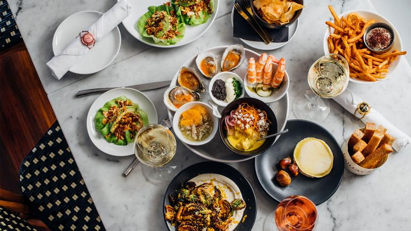 Effervescence is a bubbly-focused wine bar in New Orleans with a menu of small plates that encourages sharing.
