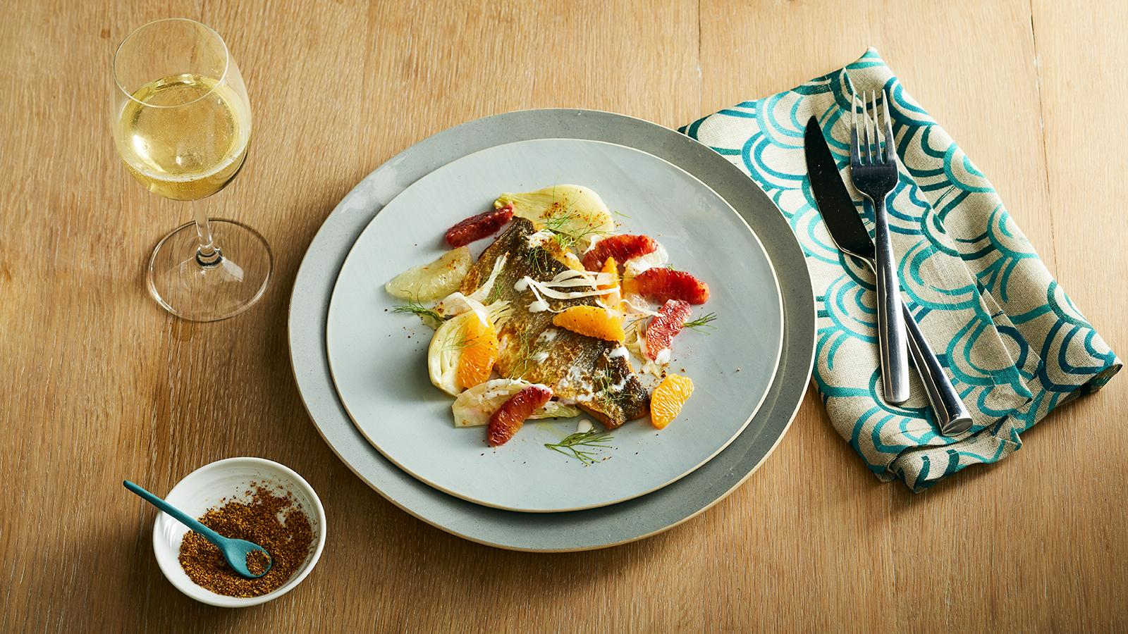 Perfect Match Recipe: Seared Branzino with Citrus