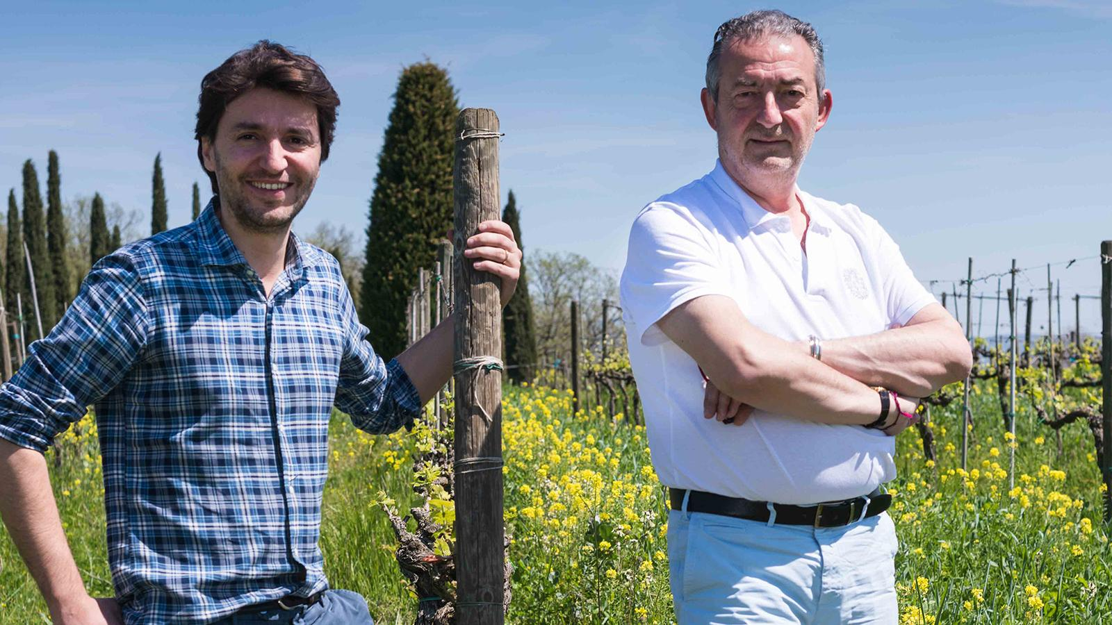 Avignonesi's Max de Zarobe (right) and winemaker and CEO Matteo Giustiniani are both part of an effort to revive the reputation of Tuscany's Vino Nobile di Montepulciano.
