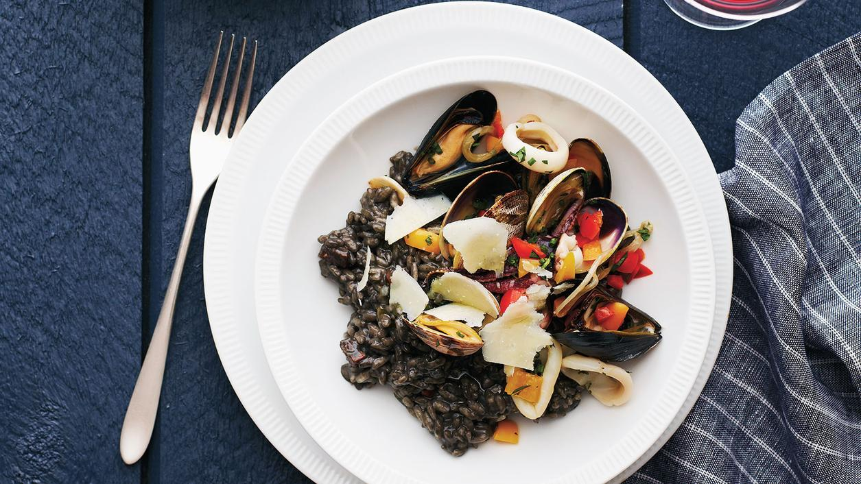 Risotto with Shellfish and Squid