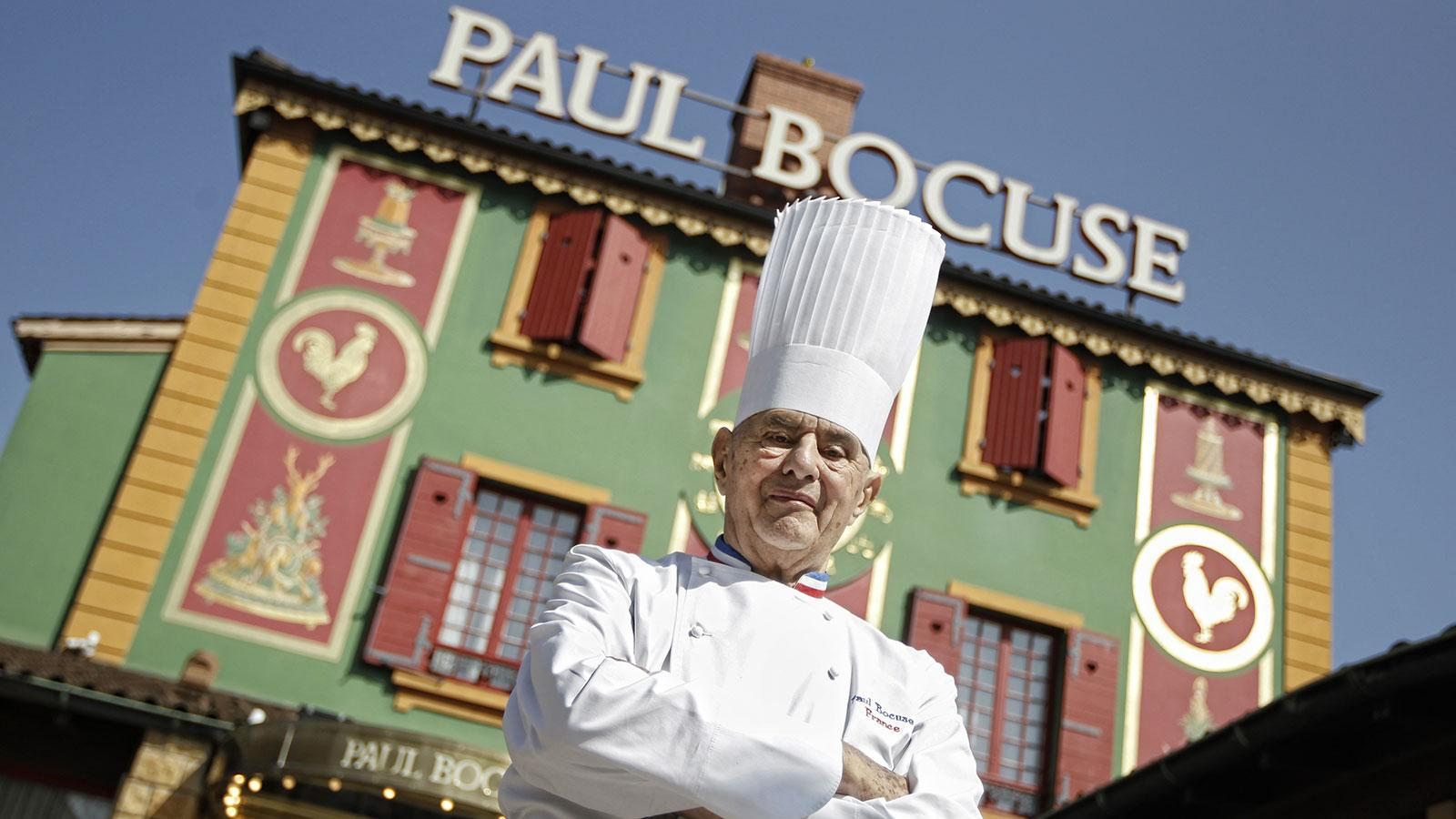 Chef Paul Bocuse's powerful personality expressed itself in his Lyon-area restaurant's eye-catching exterior.