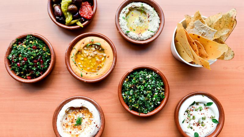 Boulud Sud serves Mediterranean and Levantine fare like hummus and tabbouleh.