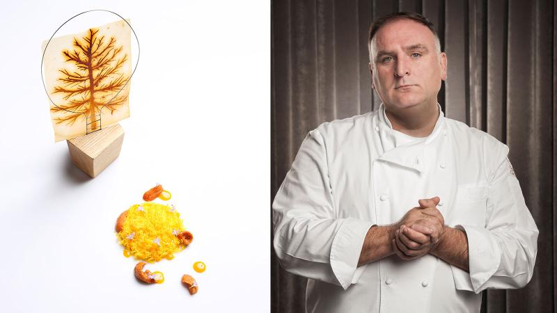 At Somni, chef José Andrés will cook up creative fare with ingredients like uni, egg and parmesan.