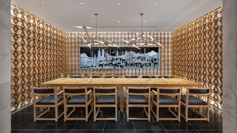 The main restaurant at Intersect by Lexus has an adjoining 12-seat private dining room.